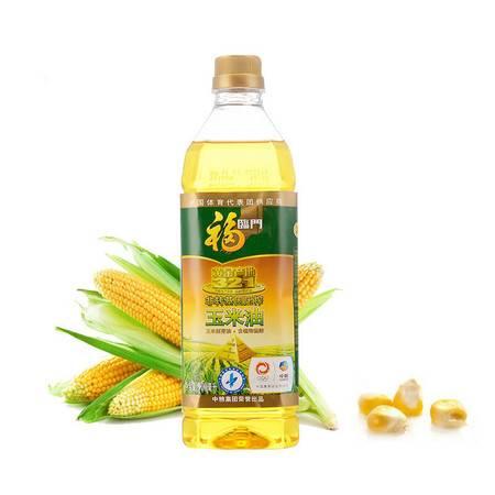福临门  非转基因压榨黄金产地玉米油900ml/瓶 中粮荣誉出品
