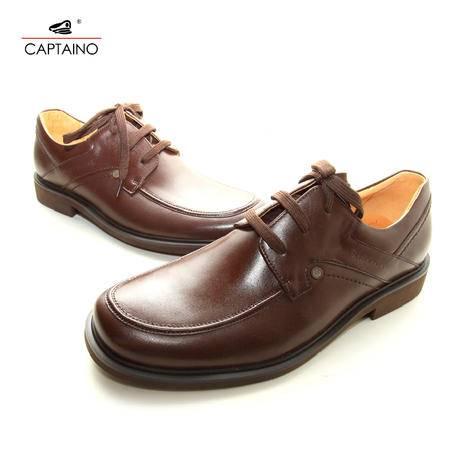 凯普狄诺/Captaino 男式头层皮棕色系带休闲皮鞋 PX91110
