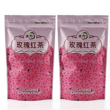 天方玫瑰红茶60g女人茶包祁门红茶
