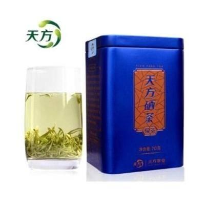 天方茶叶 春茶特级富硒茶 明前炒青绿茶70g/罐
