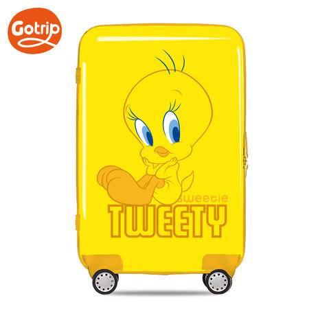gotrip拉杆箱 崔弟卡通旅行箱 飞机万向轮行李箱  24英寸