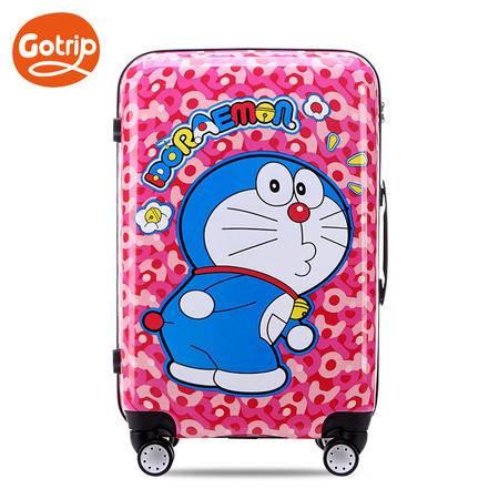 gotrip拉杆箱 哆啦A梦拉杆箱迷彩卡通行李箱密码箱万向轮登机箱20英寸