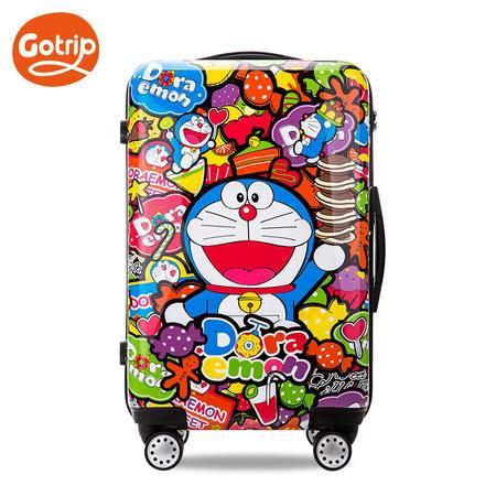 gotrip旅行箱 哆啦A梦蜜糖派对万向轮拉杆箱卡通行李箱24英寸【预售4.8发货】