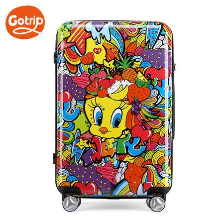 gotrip崔弟水果桑巴拉杆箱卡通可爱女学生行李箱密码万向轮行李箱20英寸
