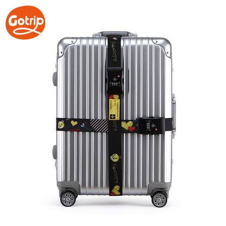 gotrip崔弟卡通捆绑捆箱带打包带行李牌拉杆箱TSA海关锁托运打包