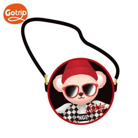 GO·TRIP gotrip泰迪单肩包女零钱包女士斜挎包手包日韩学生可爱卡通单肩包