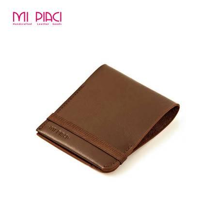 Mi Piaci 革物心语新颖利落系列 男士短款头层牛皮钱夹1285006