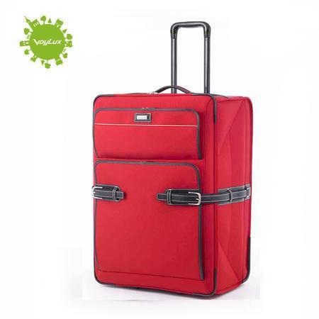 Voylux伯勒仕 Retro复古都会 红色26寸折叠旅行箱拉杆箱行李箱