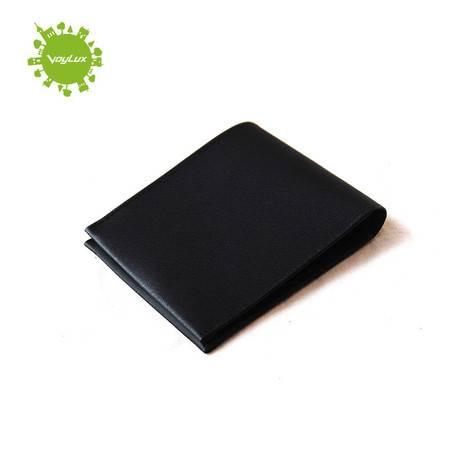 VoyLux優雅格調系列紳士 优质牛皮 牙签纹 橫式票夾 短钱包 银包