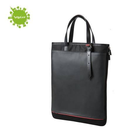 Voylux伯勒仕Clebag城市快捷 黑色商务休闲潮包直式布配皮包包