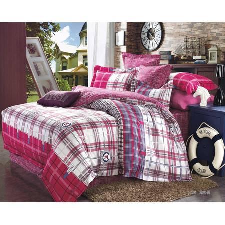 优然之家家纺 URAN 全棉贡缎活性四件套床上用品1.8米床 英格曼