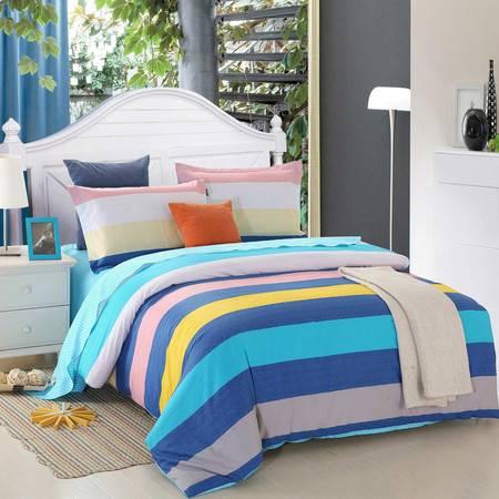 优然之家家纺 URAN 1.5m床全棉斜纹环保四件套-海滩假日