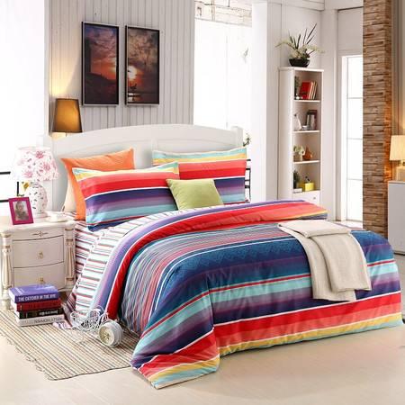 优然之家家纺 URAN 1.5m床全棉斜纹环保四件套-风情苏格兰