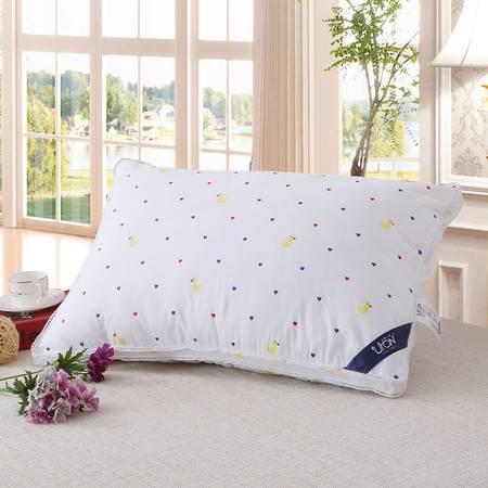 优然之家家纺 URAN 48*74cm全棉立体时尚舒适枕芯枕头-爱心