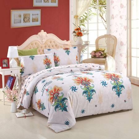 优然之家家纺URAN 1.5米床全棉斜纹高支高密环保四件套 床上用品