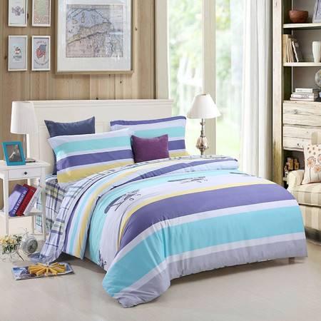优然之家家纺URAN 1.8米床全棉生态缎纹四件套 床上用品