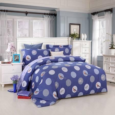 优然之家家纺URAN 1.5米床全棉生态缎纹四件套床上用品-灿烂无限