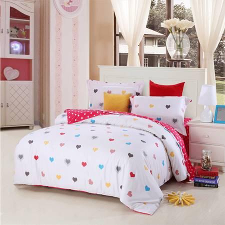 优然之家家纺URAN 1.5米床全棉生态缎纹四件套床上用品-甜心宝贝