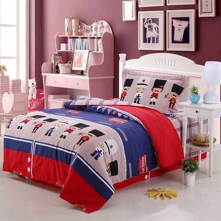 优然之家家纺URAN 1.2米床全棉生态磨毛三件套床上用品-快乐联盟