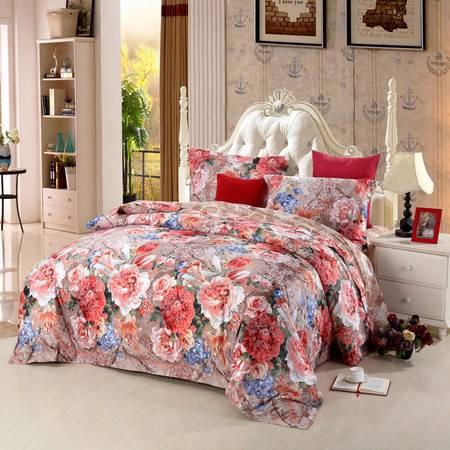 优然之家家纺URAN 1.8米床冬季欧饰美奢华四件套床上用品-艾美莱