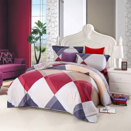 优然之家家纺URAN 1.5米床全棉生态缎纹四件套床上用品-时尚格调