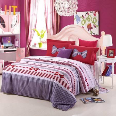 优然之家家纺URAN 1.8米床全棉加厚磨毛四件套床上用品-洛佩斯