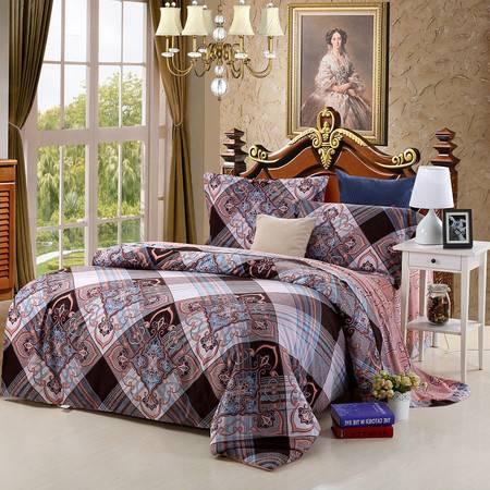 优然之家家纺URAN 1.8米床纯棉阳绒暖冬四件套-妮可