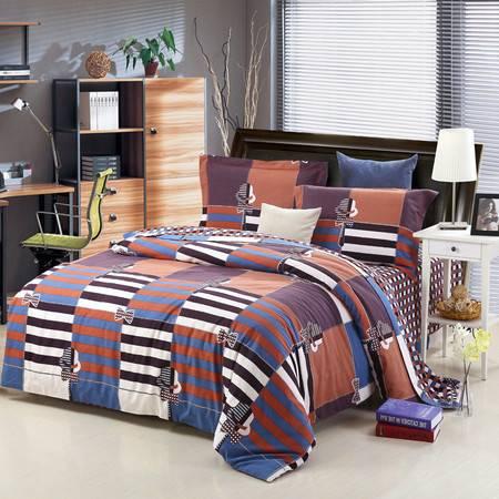 优然之家家纺URAN 1.5米床全棉生态磨毛四件套床上用品-时尚先生