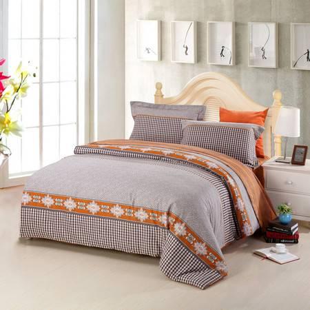优然之家家纺URAN 1.8米床纯棉阳绒暖冬四件套-米格尔