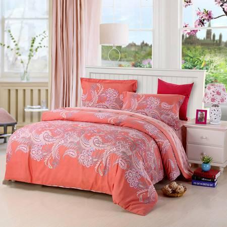 优然之家家纺URAN 1.5米床纯棉阳绒暖冬四件套-佩斯印象