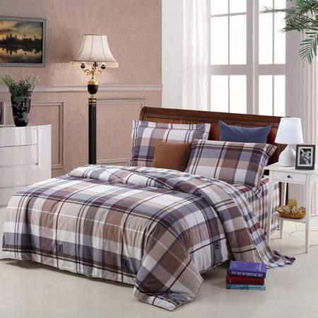 优然之家家纺URAN 1.8米床全棉生态磨毛四件套床上用品-格调