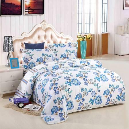 优然之家家纺URAN 全棉斜纹环保四件套床上用品-江南小调 1.5米/1.8米床适用
