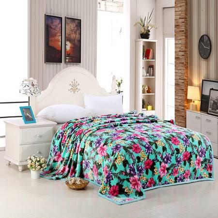 优然之家家纺URAN  超柔卡通加厚亲肤毯毛毯毯子-普罗旺斯200*230cm