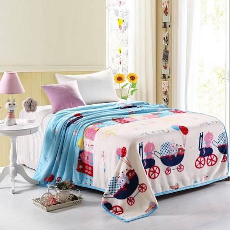 优然之家家纺URAN 150*200cm超柔卡通加厚亲肤毯毛毯休闲毯-两小无猜