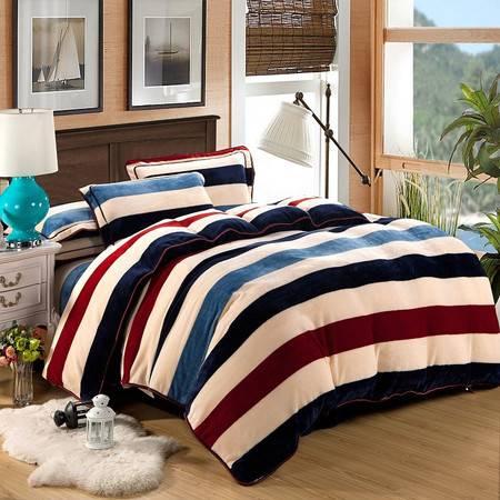 优然之家家纺URAN 1.5米床超柔加厚亲肤绒四件套套件-简约印象