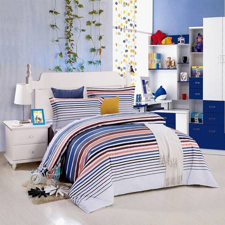 优然之家家纺URAN 1.5米床全棉喷气斜纹四件套 套件-洛菲娅