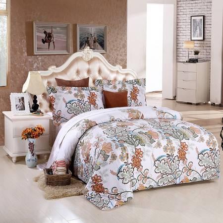 优然之家家纺URAN 1.5米床全棉喷气斜纹四件套 套件-艾薇