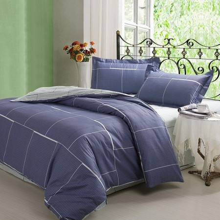 优然之家家纺URAN 纯棉/全棉斜纹环保床上用品三件套套件-格林雅致1.2米床