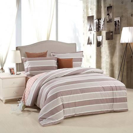 优然之家家纺URAN 1.5米床全棉斜纹环保四件套 套件-马尔代夫 咖