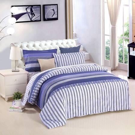 优然之家家纺URAN 1.5米床全棉斜纹环保四件套 套件-律动青春