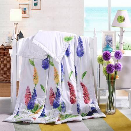 优然之家家纺URAN 超柔清凉夏被空调被-浪漫紫熏150*200cm