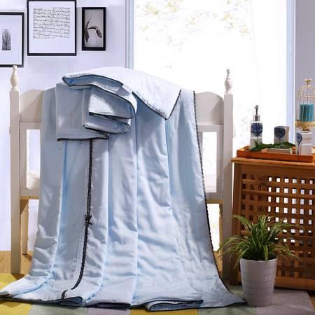 优然之家家纺URAN 碧丝纯夏被 空调被 被芯 被子-魅惑 蓝色 200*230cm