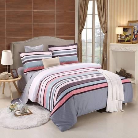 优然之家家纺URAN 全棉斜纹环保四件套套件 1.5米床