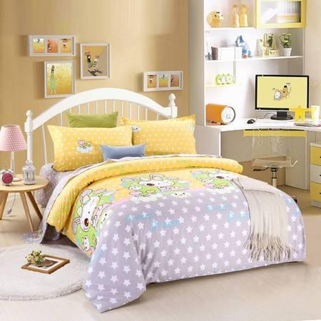 优然之家家纺URAN 全棉斜纹环保三件套套件1.2米床