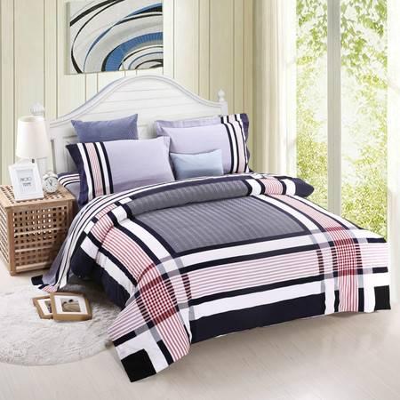 优然之家家纺URAN 1.8米床全棉加厚磨毛四件套套件-悠悠岁月