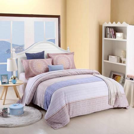 优然之家家纺URAN 1.5米床纯棉阳绒四件套套件-艾里克