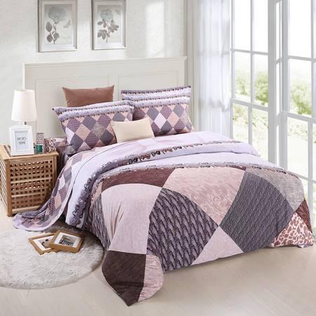 优然之家家纺URAN 1.5米床全棉加厚磨毛四件套套件 格调