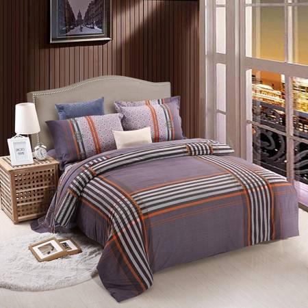 优然之家家纺URAN 1.8米床全棉加厚磨毛四件套套件 巴赫