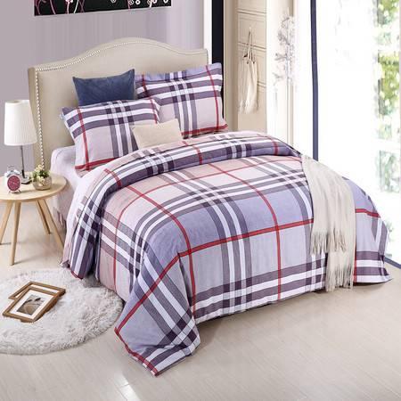 优然之家家纺URAN 1.5米床纯棉阳绒四件套套件-巴塞维亚