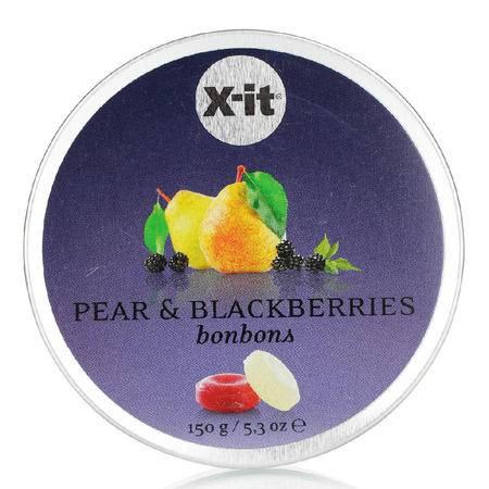 德国爱胜梨子黑莓口味糖150g 德国x-it原装进口糖果 进口零食